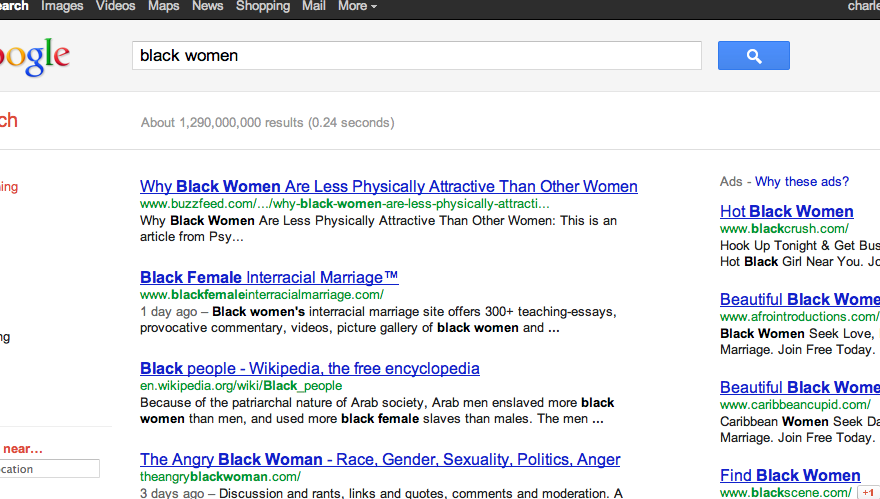 Google Search: Black Women